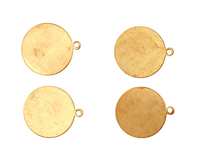 Brass Circle Blank Pendant 19x22mm