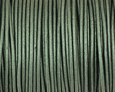 Ocean Green (metallic) Round Leather Cord 2mm