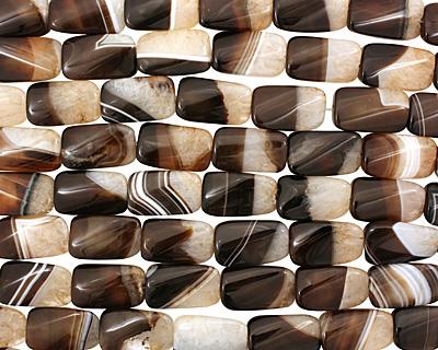 Black Sardonyx Twisted Thin Pillow 25x15mm
