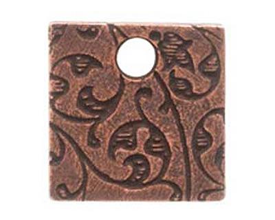 Nunn Design Antique Copper (plated) Mini Square Crown Tag 13mm