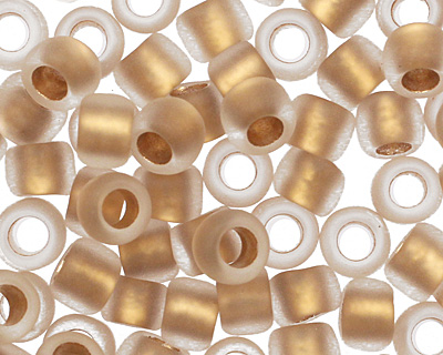 TOHO Frosted Crystal (with Gold Lining) Round 8/0 Seed Bead