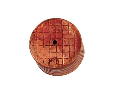 Patricia Healey Copper Small Ridged Barrel 12x14mm