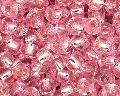 TOHO Pink (with Silver Lining) Round 8/0 Seed Bead