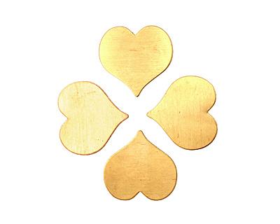 Brass Heart Blank 22mm