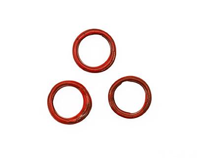 C-Koop Enameled Metal Medium Red Large Ring 16-17mm