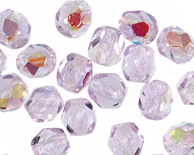 Czech Fire Polished Glass Alexandrite AB Round 4mm