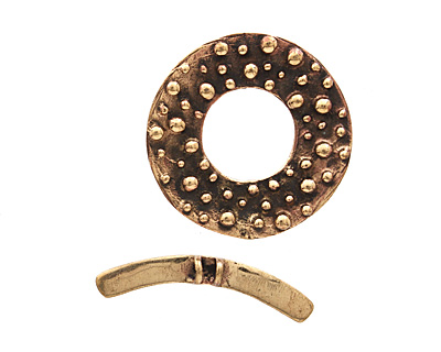 Saki Bronze Bumpy Toggle Clasp 34mm, 36mm bar