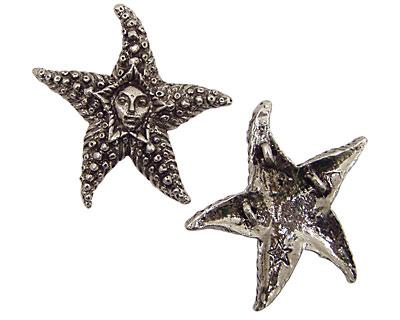 Green Girl Pewter Starfish Fairy 50mm