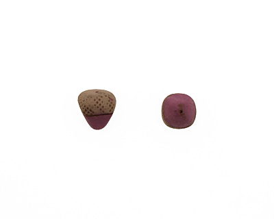 Humble Beads Polymer Clay Purple Acorn 13-14x11-13mm