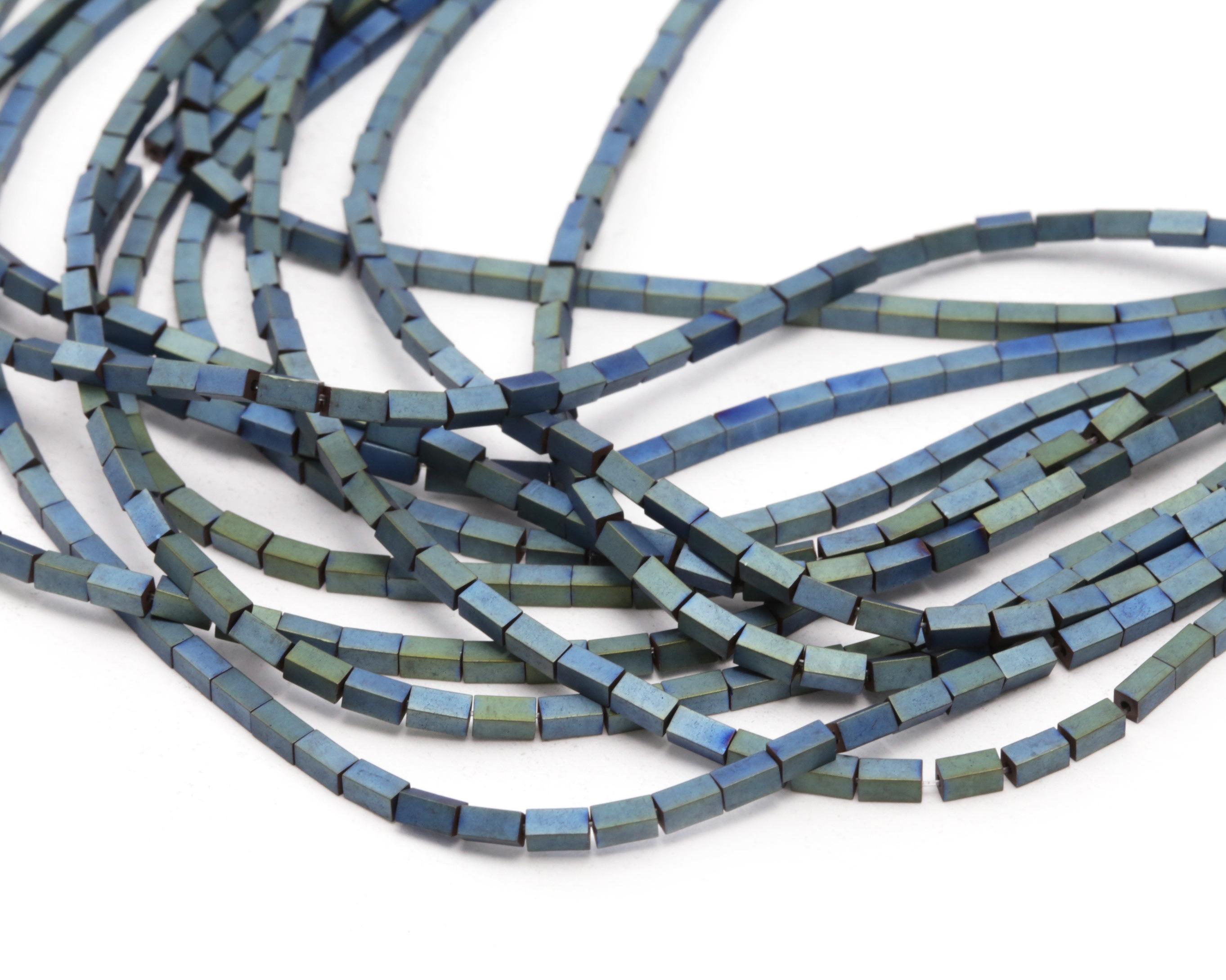 Metallic Waters Hematite (matte) 4-Sided Tube 4x2mm