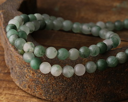 Green Chalcedony (matte) Round 6mm