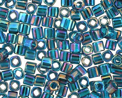 TOHO Transparent Rainbow Teal Cube 1.5mm Seed Bead