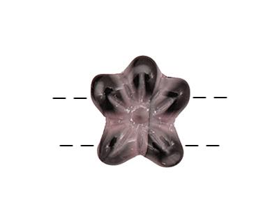 Czech Glass Black Cherry 2-Hole Flower 11x13mm