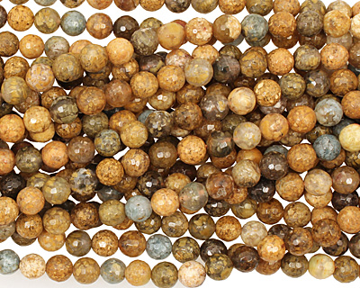 Autumn Agate Faceted Round 8mm
