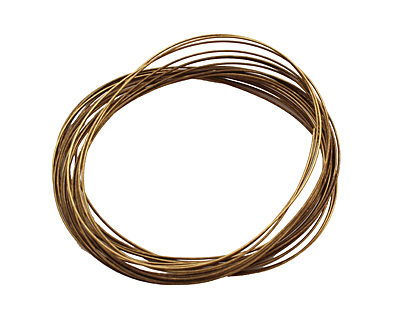 Memory Wire Antique Brass (plated) Oval Bracelet .35 oz.