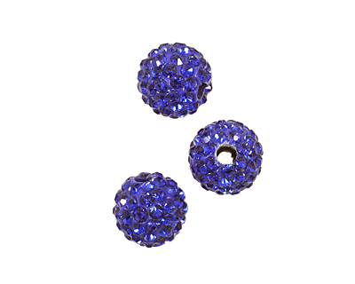 Cobalt Pave Round 8mm