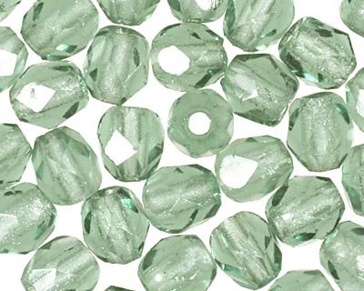 Czech Fire Polished Glass Prairie Green Round 3mm