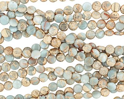 Impression Jasper Puff Coin 10mm