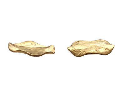 Brass Textured Wavy Coin 21mm