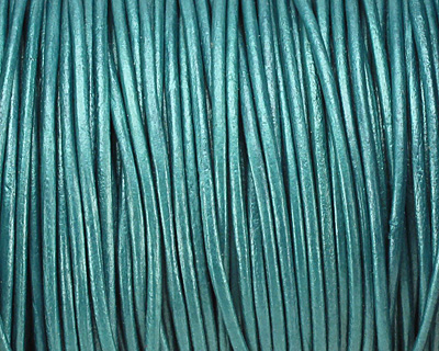 Truly Teal (metallic) Round Leather Cord 1.5mm