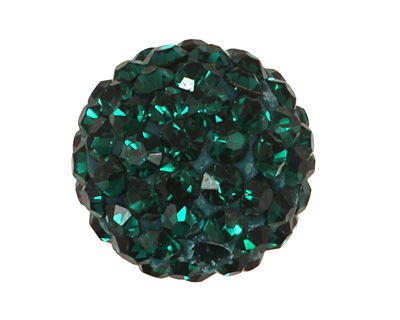 Emerald Pave Round 10mm (1.5mm hole)