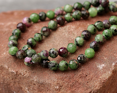 Ruby Zoisite Faceted Round 6mm
