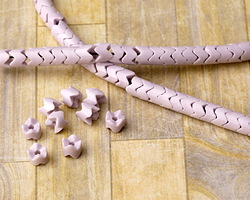 Lavender Agate Zig-Zag Tube 4x4mm