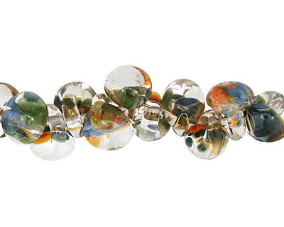 Unicorne Beads Exotic Lush Palm Teardrop 7x9mm