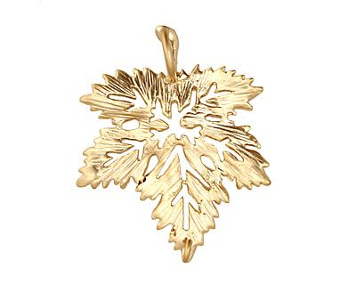 Ezel Findings Gold (plated) Fancy Maple Leaf Link 28x23mm