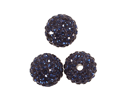 Montana Blue Pave Round 10mm (1.5mm hole)