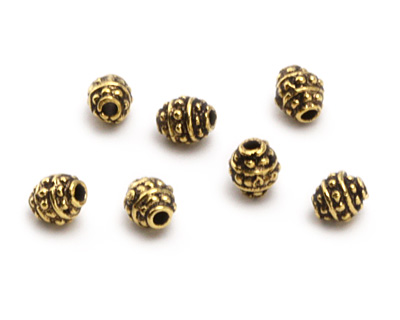 Greek Antique Gold (plated) Tiny Bali Spacer 4mm
