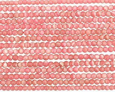 Rhodochrosite (soft pink) Round 4mm