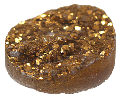 Druzy (metallic gold) Round Cabochon 30mm