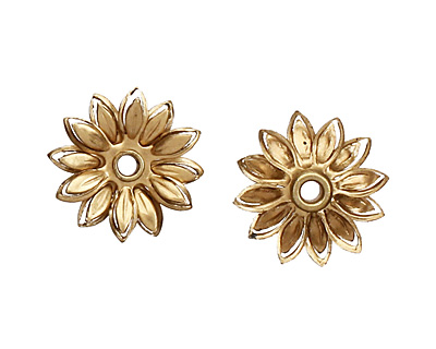 Brass Layered Daisy 14mm