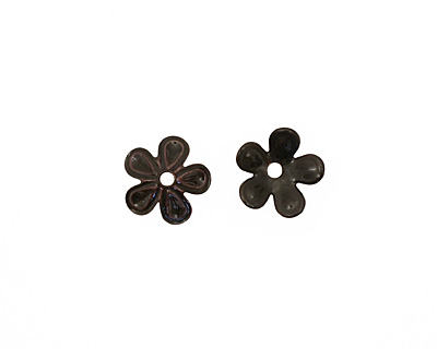 C-Koop Enameled Metal Black 5 Petal 15mm