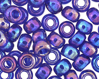 TOHO Transparent Rainbow Cobalt Round 6/0 Seed Bead