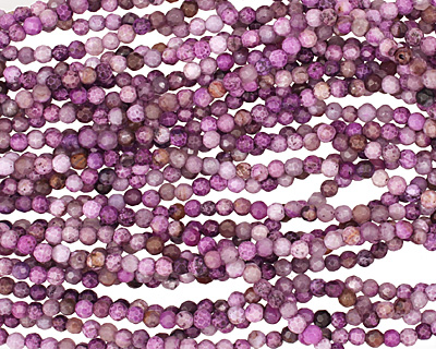 Purple Crazy Lace Agate Faceted Round 4mm