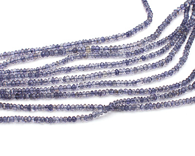 Iolite Faceted Rondelle 3-4mm