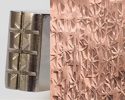 Texturing Hammer Rectangular Crosshatch & Stars