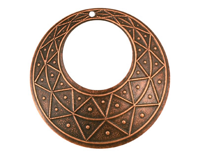 Stampt Antique Copper (plated) Pyramid Print Gypsy Hoop 50mm