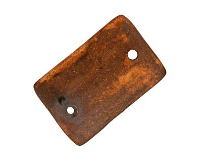 Earthenwood Studio Ceramic Single Bolted Lumber Link 24-26x17mm