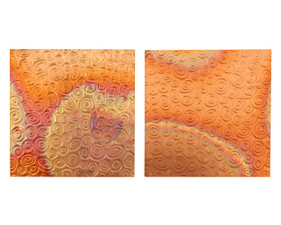 Lillypilly Flamed Groovy Circles Embossed Patina Copper Sheet 3