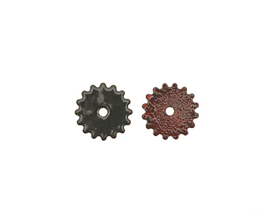 C-Koop Enameled Metal Steel Gray Small Closed Gear 16mm