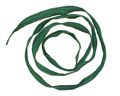 Emerald Hand Dyed 100% Silk Ribbon 1/2