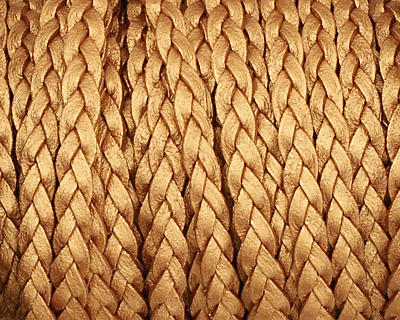 Bronze (metallic) Flat Braided Leather Cord 5mm