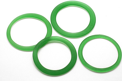 Green Soda (Sea Glass Finish) Glass Bottle Ring 60-70mm