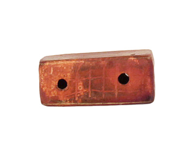 Patricia Healey Copper 2 Hole Grooved Edge Square 15mm
