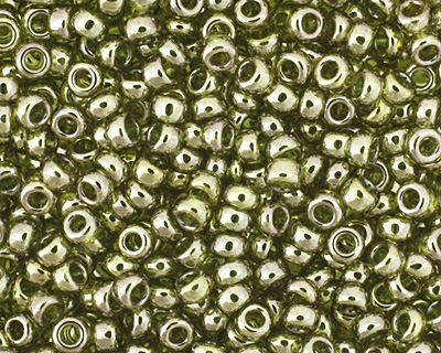 TOHO Gold Lustered Green Tea Round 15/0 Seed Bead