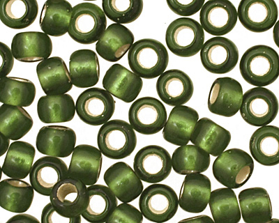 TOHO Olive (with Frosted Silver Lining) Round 8/0 Seed Bead