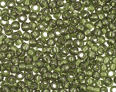 TOHO Transparent Olivine Round 15/0 Seed Bead